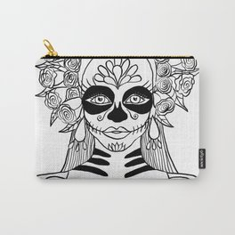 La Calavera Catrina Sugar Skull Ink Drawing Carry-All Pouch