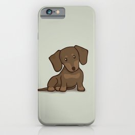 Daschund Puppy Illustration iPhone Case