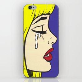Blonde Sad Girl iPhone Skin