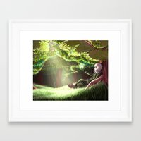 hetalia Framed Art Prints featuring Arthur Kirkland by Kurfluffle