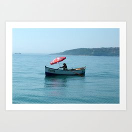 One Man and His Boat Art Print