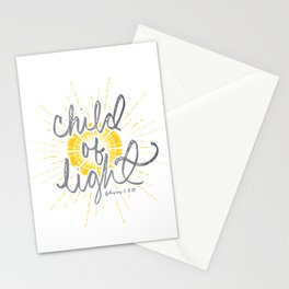"""EPHESIANS 5:8-10 """"CHILD OF LIGHT"""" Stationery Cards"""