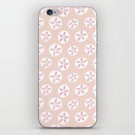 Sand Dollars Sea Urchin in Blush Pink iPhone Skin