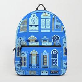 Moroccan Doors – Cornflower Blue Palette Backpack