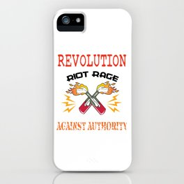 This is the awesome revolutionary Tshirt Those who make peaceful revolution START THE REVOLUTION Tee iPhone Case