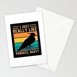 I just Really Like Parrots,Okey Stationery Cards
