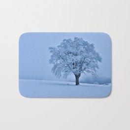 Solitary Snow Tree - Landscape Photograhpy Bath Mat