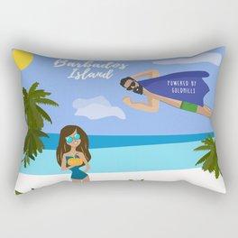 Barbados Trip Rectangular Pillow