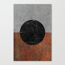 Abstract - Marble, Concrete, Rusted Iron Canvas Print