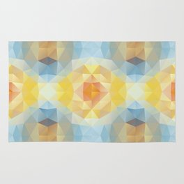 Kaleidoscopic design in soft colors Rug