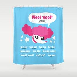 Dog sounds around the world Shower Curtain