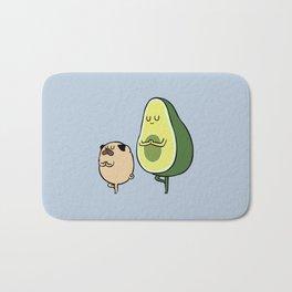Pug and Avocado Yoga Bath Mat