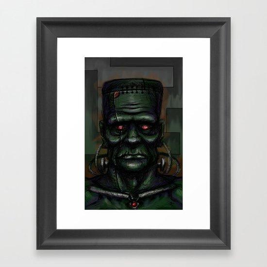 Frankenstein's Automaton Framed Art Print