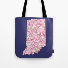 Indiana in Flowers Tote Bag