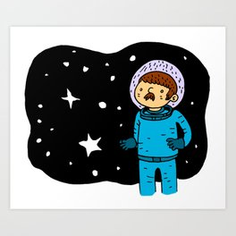Seventies Astronaut Art Print