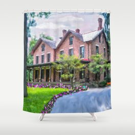 Rutherford B. Hayes Home Shower Curtain