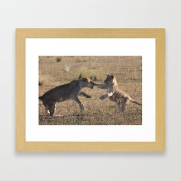 Broken Nose and Daughter Framed Art Print