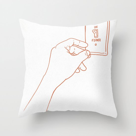 The Emotional Light Switch Throw Pillow