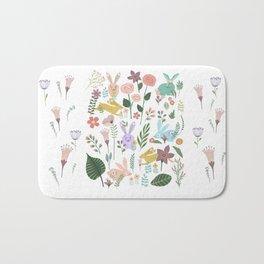 Springtime In The Bunny Garden Of Floral Delights Bath Mat