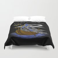 cookie monster Duvet Covers featuring Pay the Cookie Man by SwanStarDesigns