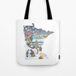Minnesota Winter Tote Bag