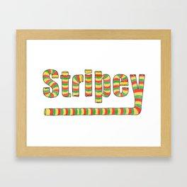 Stripey 2 Framed Art Print