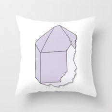 Amethyst Quartz Throw Pillow