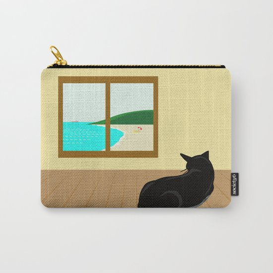 Landscape and cat Carry-All Pouch