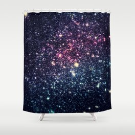 Galaxy Stars : Subtle Purple Mauve Pink Teal Shower Curtain