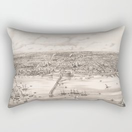 Vintage Pictorial Map of Buenos Aires Argentina (1850) Rectangular Pillow