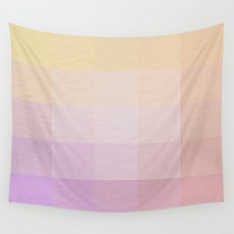 Pixel Gradient between Soft Yellow and Grayish Red Wall Tapestry
