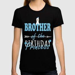 Brother Of The Birthday Princess Llamazing Girl Llama Party design T-shirt