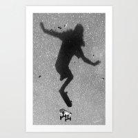 skate Art Prints featuring Skate by Keepcalmdude