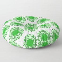 vintage flowers green Floor Pillow