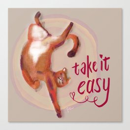 Soft kitty warm kitty Canvas Print