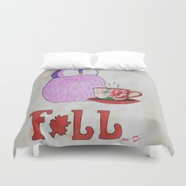 Fall in Love with Coffee Duvet Cover
