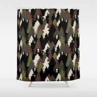 bears Shower Curtains featuring BEARS by Kimsa