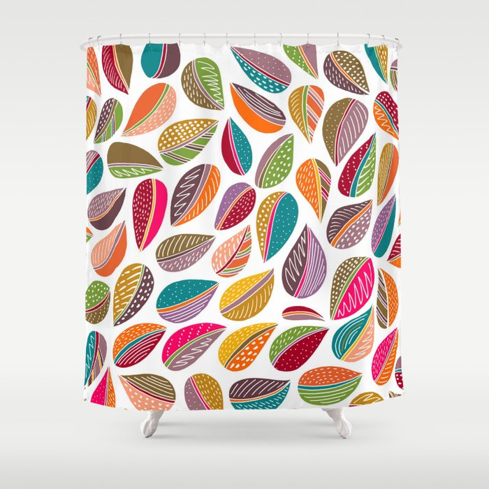 Leaf Colorful Shower Curtain