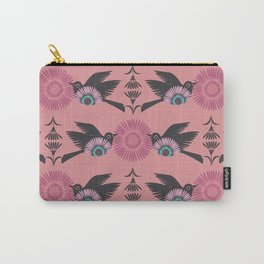 Blackbirds and Pink Blooms Carry-All Pouch