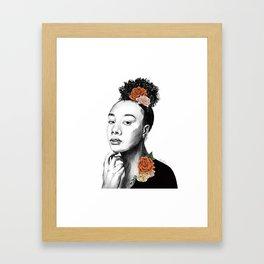 Autumn petals - floral portrait 2 of 3 Framed Art Print