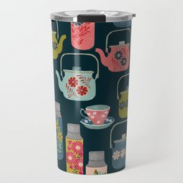 Vintage Thermos - Teacups and Teapots by Andrea Lauren Travel Mug