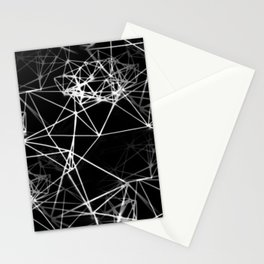 Geometric himmeli ornaments as minimal negative pattern Stationery Cards
