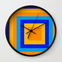 Square orange Wall Clock