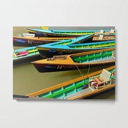 Burmese Water Taxi Metal Print