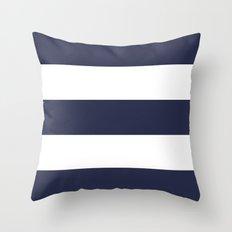 NAVY & WHITE STRIPE Throw Pillow