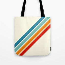 Alator - Classic 70s Retro Summer Stripes Tote Bag