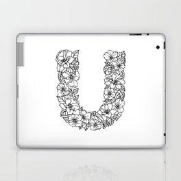 Floral Type - Letter U Laptop & iPad Skin