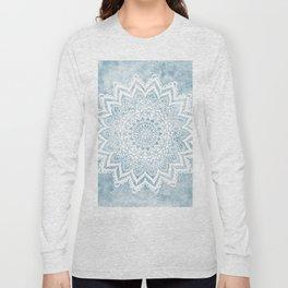 LIGHT BLUE MANDALA SAVANAH Long Sleeve T-shirt