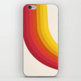 4-Sho - retro 70s style throwback vibes 1970's trendy decor art minimalist rainbow stripes iPhone Skin