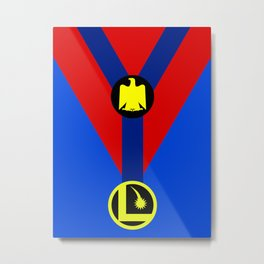 Minimalist Legion of Super-Heroes Poster - Colossal Boy Metal Print